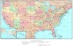 Staes And Capitals Map Of Us Usa Cities States