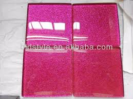 10x10 glitter clear glass mosaic tile for kitchen