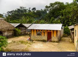 100 Houses In Nature And Houses Of The One Of The Maya Villages In Chiapas