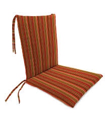 Sunbrella Classic Rocking Chair Cushions With Ties, Seat 21