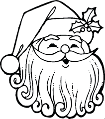 Coloring Pages Free Christmas Santa Claus Mask Face Clause Page