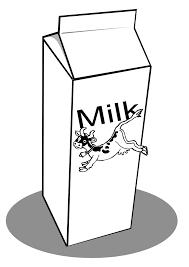 milk clip art black and white