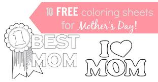 Try One Of These Mothers Day Coloring Pages