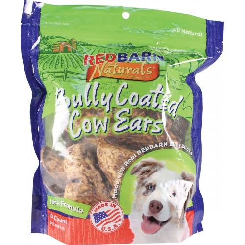Redbarn Naturals Bully Coated Cow Ears Dog Food - 10ct