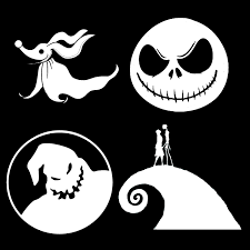 Nightmare Before Christmas Bathroom Decor by Nightmare Before Christmas Vinyl Decals Jack Sally Spiral