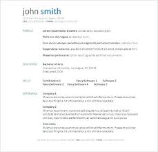 Free Resume Letter Resume Templates Free Download For Microsoft Word