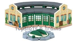 wooden tidmouth sheds thomas friends railway engine shed at topslots