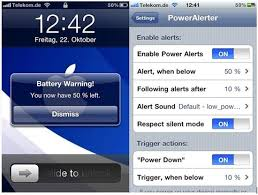 Get Custom Battery Percentage Level Alerts For Your iPhone iPod