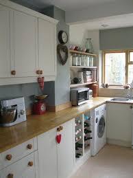 Black Polished Oak Wood Tiny Kitchen