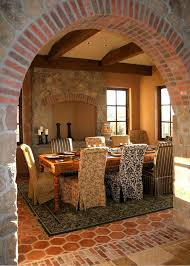 Parsons Arm Chair Dining Room Rustic With Tile Floor L Listed Chandeliers