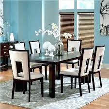 Dining Table 6 Piece Set Room Silver