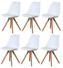 paket 6er set esszimmerstuhl nelle küchenstuhl esszimmer küche stuhl stühle eiche weiß dynamic 24 de