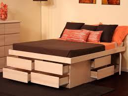 Queen Platform Bed with Storage Drawers — Modern Storage Twin Bed