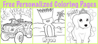 Free Personalized Printable Coloring Pages