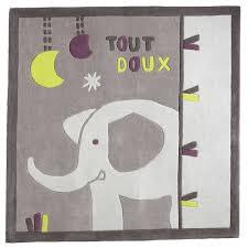 tapis de chambre bébé india tapis carré gris de sauthon baby déco tapis aubert