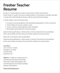 Examples Of Resume For Teachers Preschool Teacher With No Experience Samples