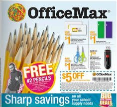 fice Max Back to School deals FREE pencils up to 20 address