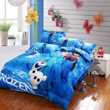 blue Frozen Elsa and Anna bedding sets DISNEY cartoon bedspread