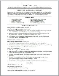 Check Out This Sample Of A CNA Resume Resumes Are Vital To Getting Certified Nursing Assistant Job