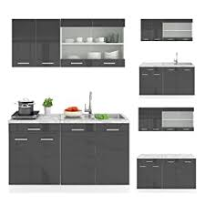 vicco r line kitchen unit 140 cm high gloss