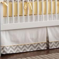 Gray and Yellow Zig Zag 2 Piece Crib Bedding Set