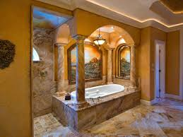 Tuscan Decor Wall Colors by Luxurious Bathing Area In Tuscan Style Bathroom Stately Stone