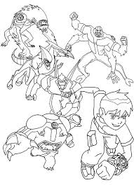 Ben 10 Coloring Pages Printable Free