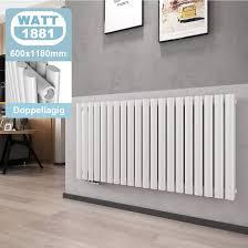 welmax design paneelheizkörper 1600x480 mm doppellagig weiß