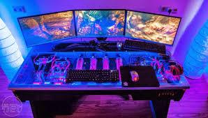DIY PC Desk Mods Red Harbinger Cross PC Desk The Ultimate PC