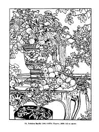 Free Coloring Page Coloringdrawingvintagefredericbazille1868