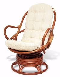 Swivel Pod Dining Chair by Java Handmade Design Rattan Wicker Swivel Rocking Chair With Thick