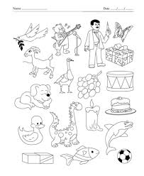 Color The Picture Which Start With Letter D Printable Coloring
