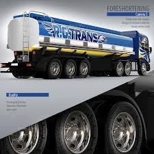 100 Gasoline Truck Semitrailer Tank Truck Mockup By Bennet1890 GraphicRiver
