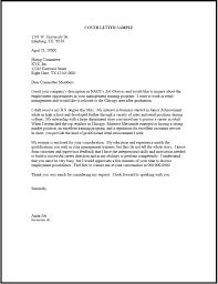 Cover Letter Sample 1