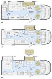 C Floor Plans by 2011 Winnebago View Class C Motorhome Floorplans