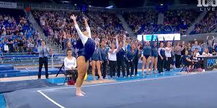 ucla gymnast sophina dejesus s hip hop floor routine business
