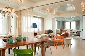 Modern Dining Room Curtains Designs Floor Plan Decor With Living And Area