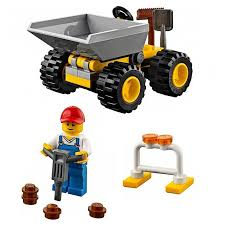 100 Lego City Dump Truck LEGO Worker Bundle And Garbage Tanga