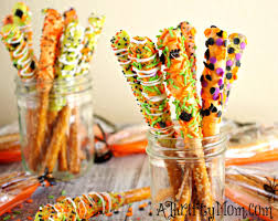 Halloween Candy Dish Craft by Gourmet Halloween Pretzel Rods Halloween Recipes Easy Halloween