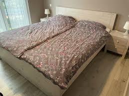 schlafzimmer bett dänisches bettenlager weiß gebeizt