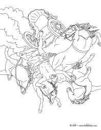 THESEUS AND THE MINOTAUR PHAETON CHARIOT OF SUN Coloring Page