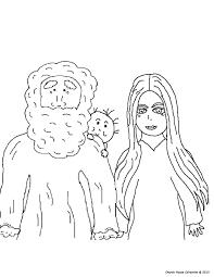 Colouring Page Of Abraham Sarah And Baby Isaac At