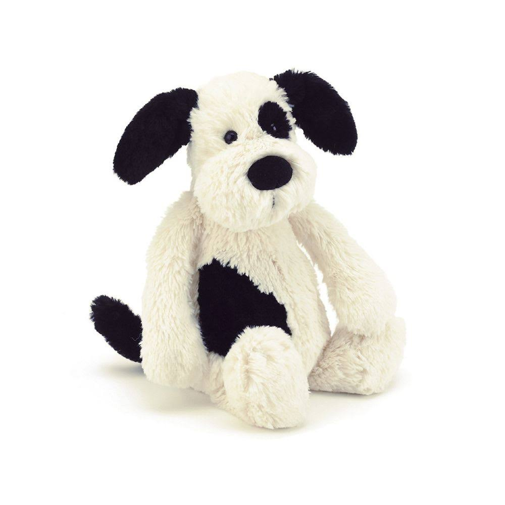 Jellycat Bashful Puppy - Small, Black And Cream