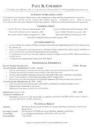 Information Technology Resume Examples 2016