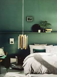 dunkelgrün petrol wandfarbe luxusschlafzimmer wohnung