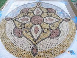 Mosaic Medallion Under Construction