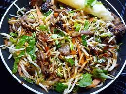 cuisiner avec un wok wok de canard laqué aux pousses de soja mexique