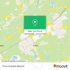 how to get to poco domäne in eching by or s bahn moovit