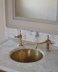Barber Wilson Unlacquered Brass Faucet by Unlacquered Brass Faucet Butler U0027s Pantry Sink White Marble