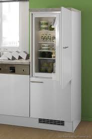 Modern White Kitchen Cabinets With Built In Euro Style Refrigerator Custom Cabinet